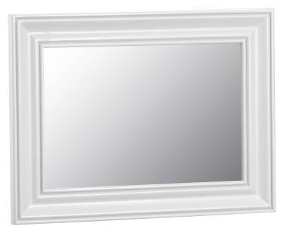 Thornton Painted White with Oak Top Small Wall Mirror