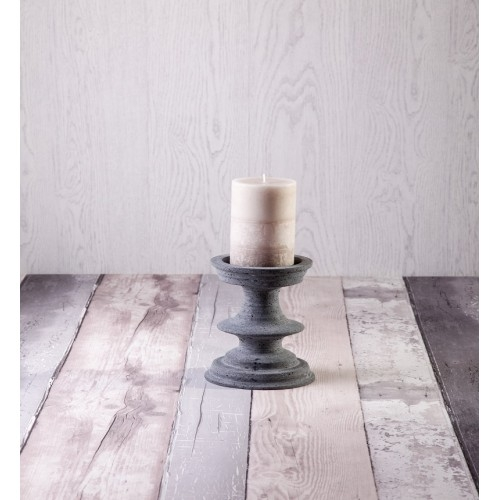 Dark Grey Candle Holder