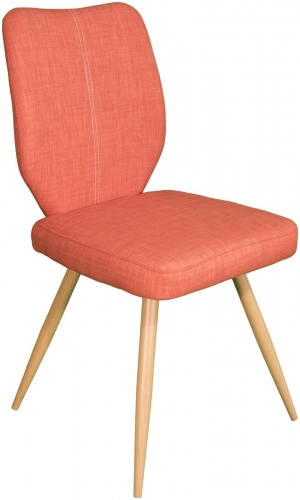 Stockholm Curved Back Dining Chair Orange