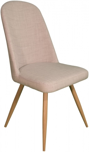 Stockholm High Back Dining Chair Ivory