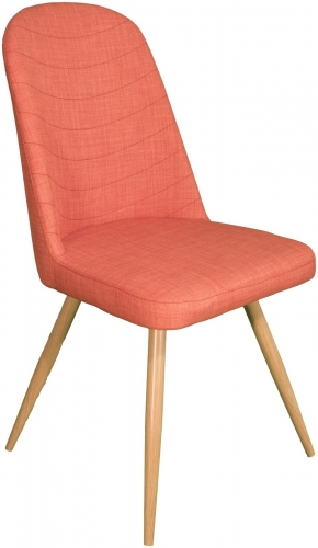 Stockholm High Back Dining Chair Orange