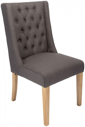 Belgravia Dining Chair In Slate Fabric