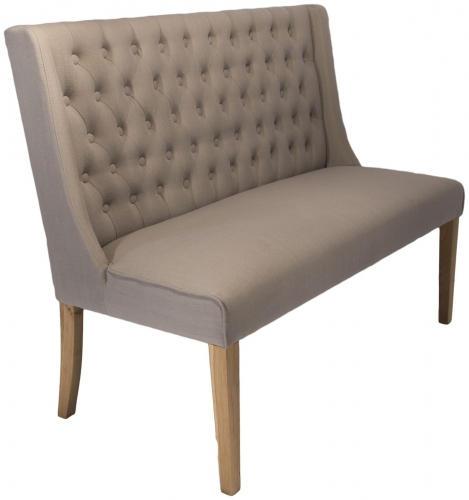 Belgravia Bench In Almond Fabric