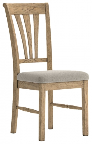Biarritz French Oak Dining Chair with Almond Seat