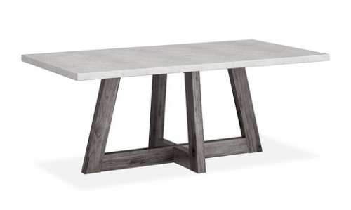 Boulder Contemporary Acacia with A Concrete Top Fixed Dining Table 190cm