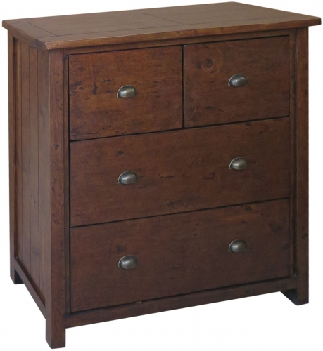 Melrose Reclaimed Pine 2 Over 2 Chest Of Drawers