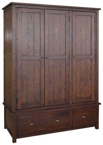 Melrose Reclaimed Pine Triple Wardrobe