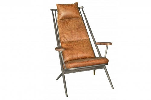 Industrial Armchair - Brown Leather