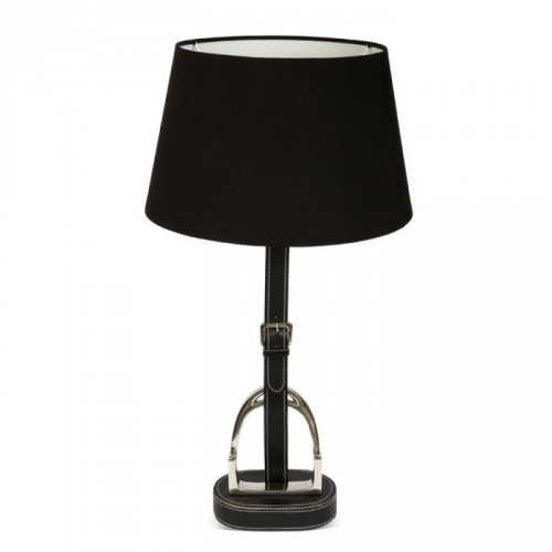 Black Stirrup Lamp with Black Shade
