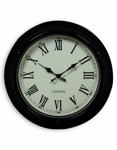 Small Black with Cream Face 'London' Wall Clock