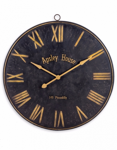 Black and Gold Iron Wall Clock