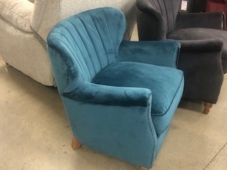 Fletcher Accent Chair - Plush Peacock