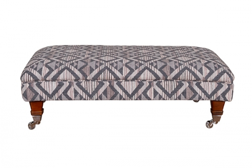Atlantis Fabric Footstool