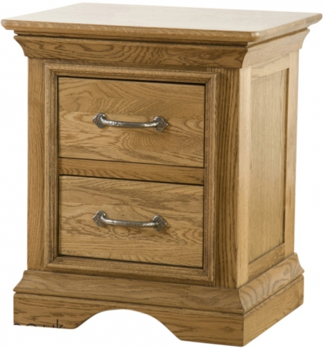 Rochelle French Oak 2 Drawer Bedside
