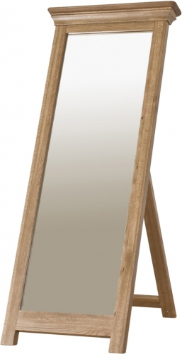 Rochelle French Oak Cheval Mirror