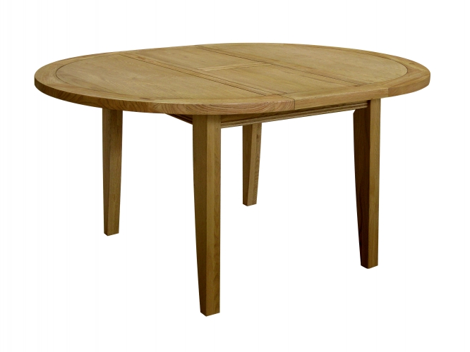 Rochelle French Oak Round Extending Table