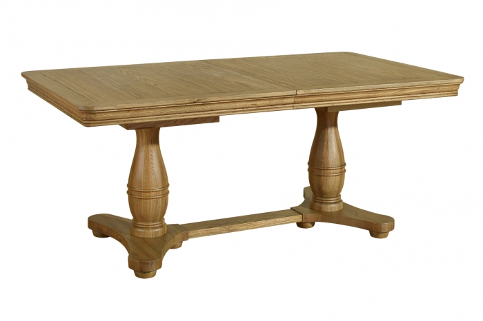 Rochelle French Oak Twin Pedestal Extending Table