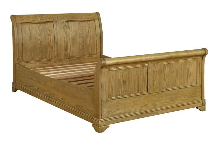 Rochelle French Oak 4ft6 Sleigh Bed