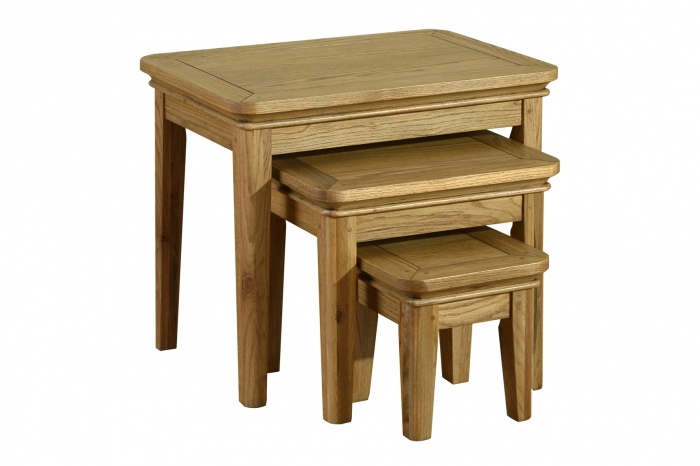 Rochelle French Oak Nest Of Tables