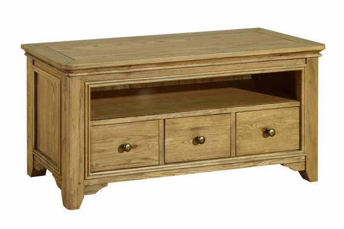 Rochelle French Oak Plasma Tv Stand