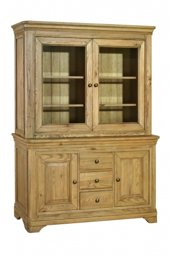 Rochelle French Oak Large Sideboard With Glazed Top