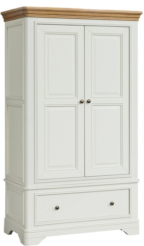 Rochelle Painted French Oak Double Wardrobe