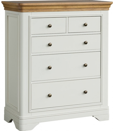Rochelle Painted French Oak 2 Over 3 Chest