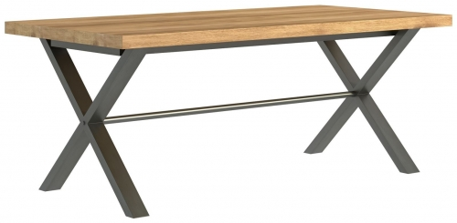 Telford Industrial Oak Large Dining table