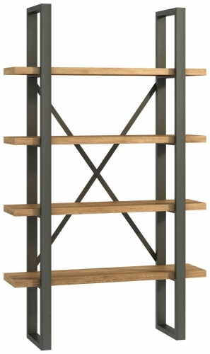 Telford Industrial Oak Shelf Unit