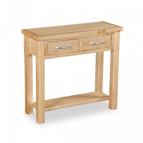 Burton Light Oak 2 Drawer Console