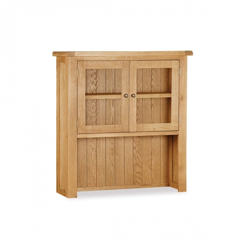 Country Rustic Waxed Oak Small Hutch