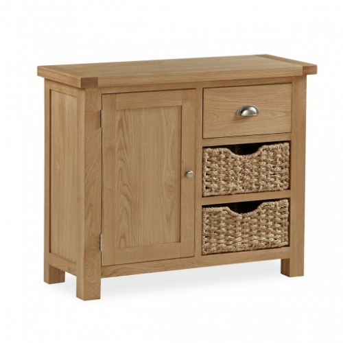 Cheltenham Oak Sideboard With Baskets