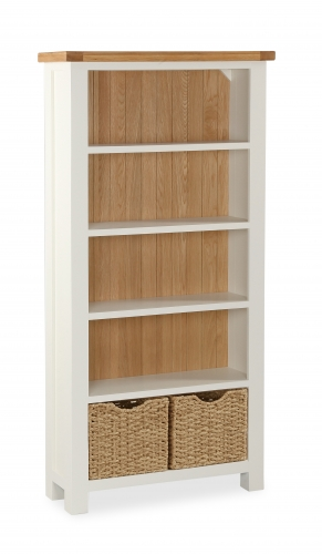 Dawlish Painted Oak Large Bookcase