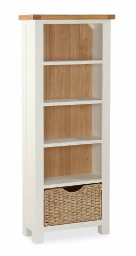 Dawlish Painted Oak Slim Bookcase