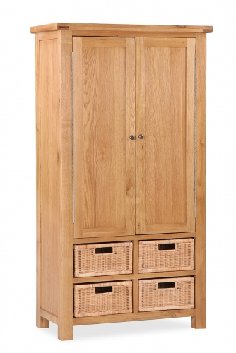 Country Rustic Waxed Oak Larder Unit