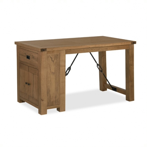 Forge Industrial Oak Bar Table