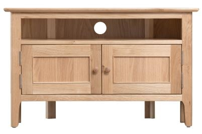 Newby Light Oak Corner Tv Cabinet
