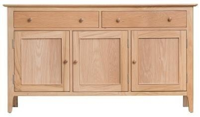 Newby Light Oak 3 Door 2 Drawer Medium Sideboard