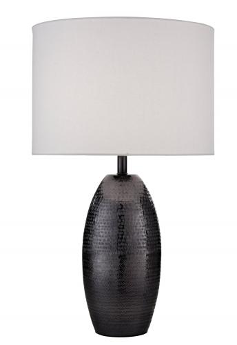 Darsha Table Lamp Blackened Nickel