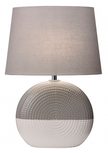 Bassett Lamp Grey/White
