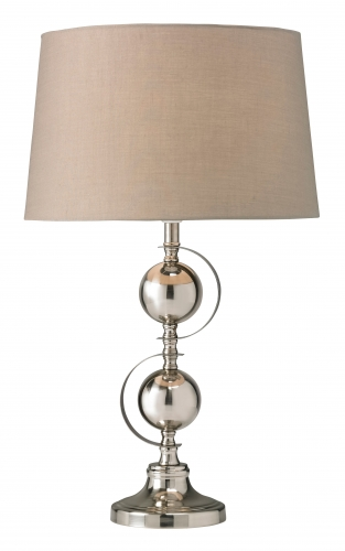 Dalton Table Lamp Satin & Chrome