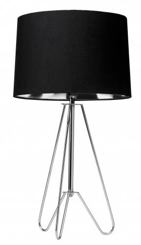 Ziggy Table Lamp Chrome Tripod