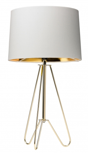 Ziggy Table Lamp Gold Tripod