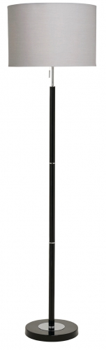 Madaline Floor Lamp Black/Chrome