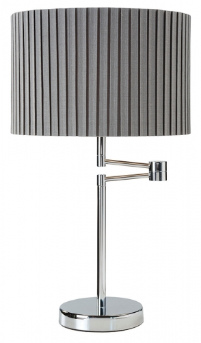 Fenella Table Lamp Chrome Grey