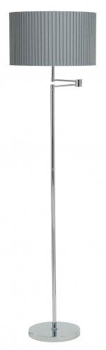 Fenella Floor Lamp Chrome Grey