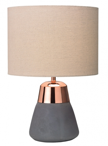 Jasper Table Lamp Grey/Copper