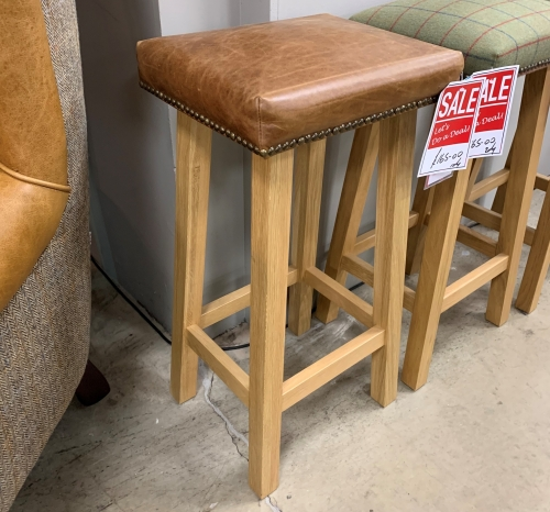 Horton Leather Bar Stool