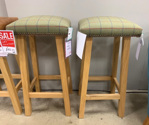 Horton Bar Stool with Lambs Wool Seat