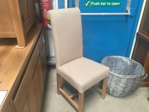 Carlton Fabric Dining Chair - Cotswold Fawn